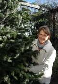 Connie in the Christmas Tree Lot