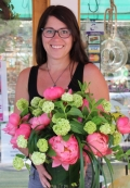 Heidi with Peony and Mint Arrangement