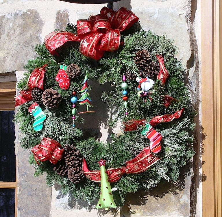Custom Designed Christmas Tree Wreaths in Boulder, Colorado