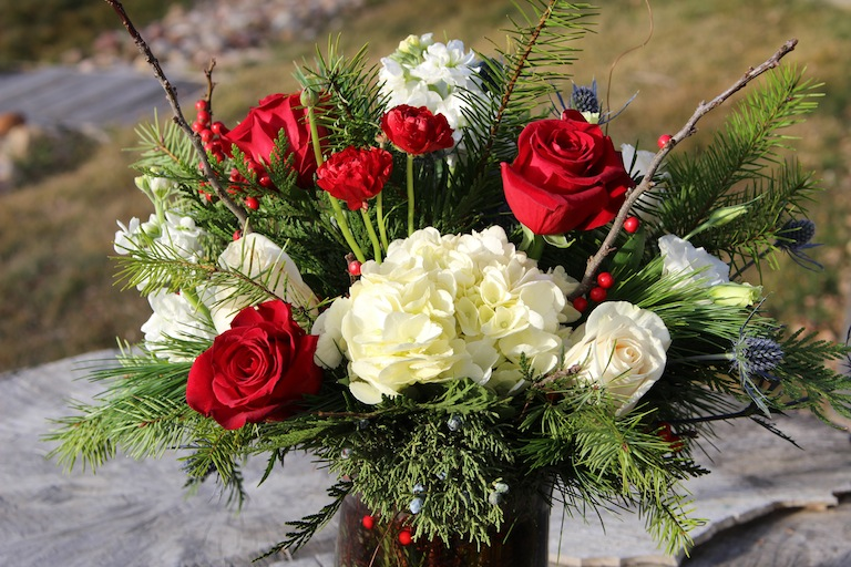Christmas Flower Arrangements Delivered In Boulder Colorado