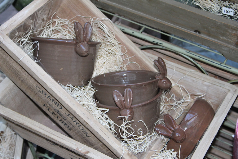 Bunny Rabbit Pots for Easter