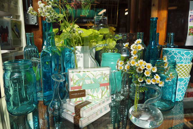 Blue Glass Vases at Sturtz and Copeland
