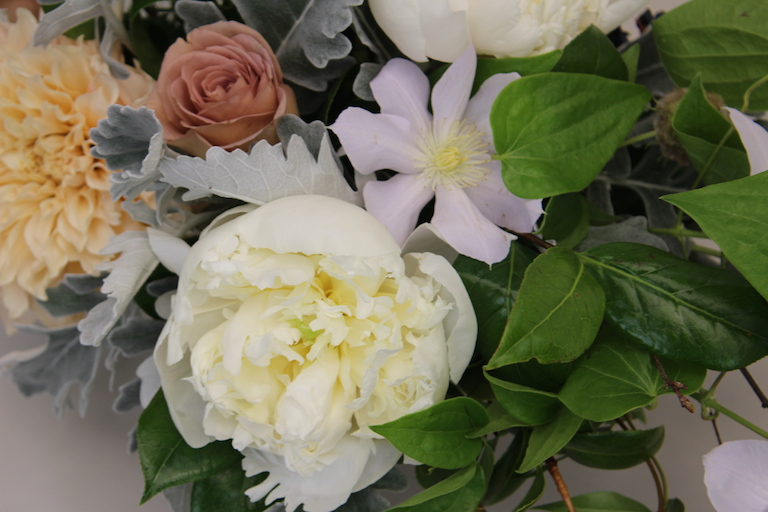 Wedding flowers with white clematis