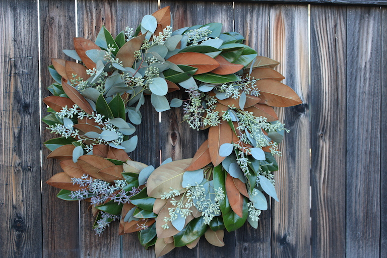 Eucalyptus and Magnolia Leaf Wreath