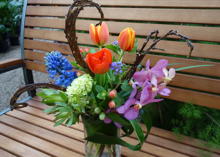 Take Me to the Tropics with Tulips, Hyacinth and Vanda Orchids