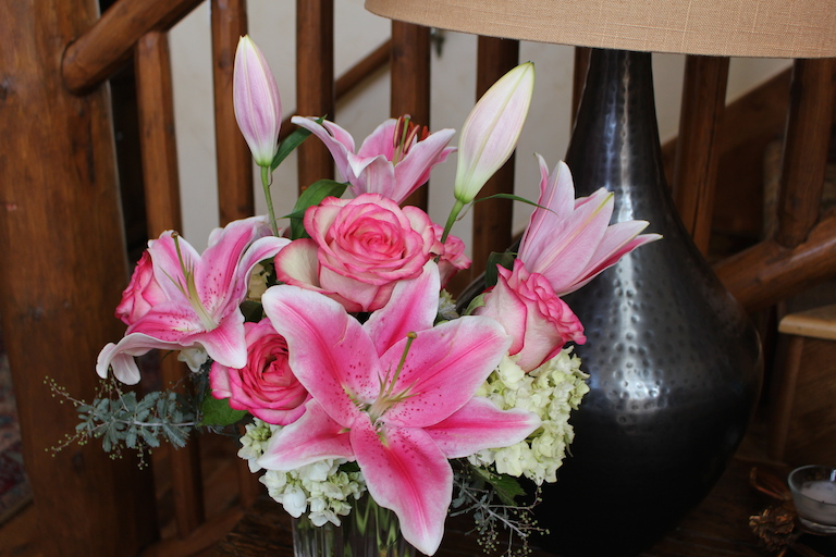 Rubrum Lilies and Roses for the Perfect Valentine Bouquet  $110.00