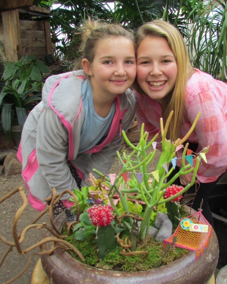 Girls at Fairy Garden Class