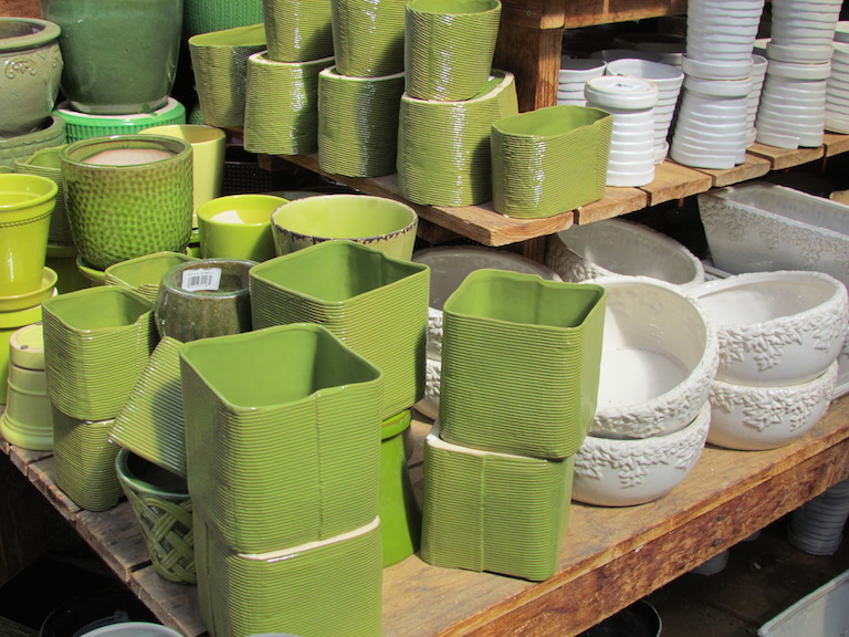 Spring Green Square Pots