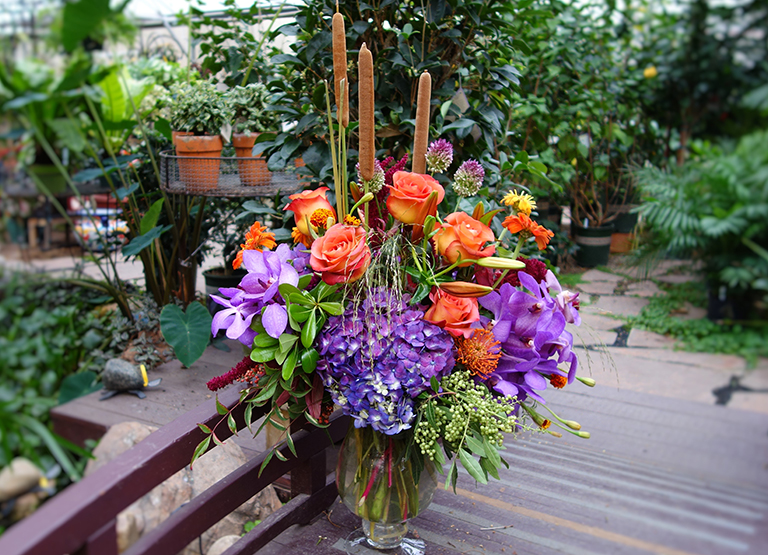 Seasonal Fall with Vanda Orchids and Hydrangea
