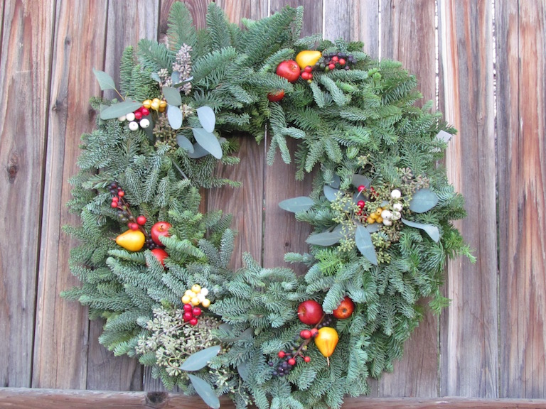 Mixed Wreath with Fruit