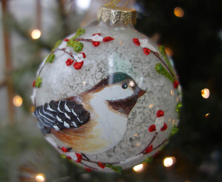Wild Bird Glass Ornament
