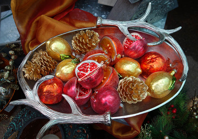 Glass Fruit Ornaments