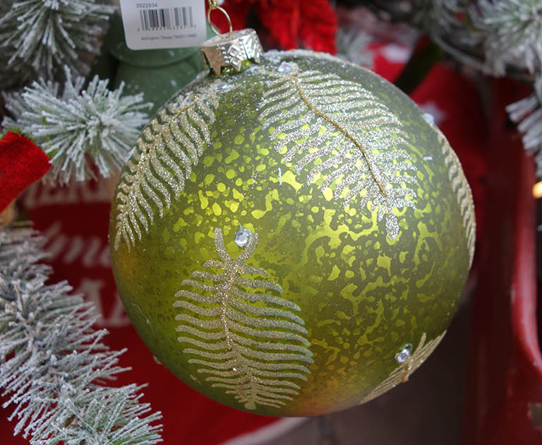 Green Fern Ornament