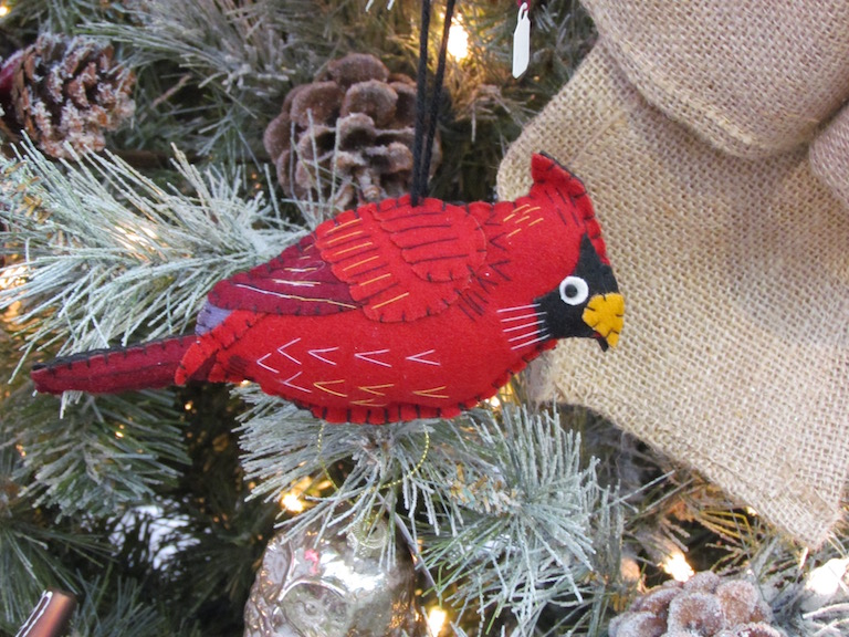 Red Cardinal Christmas Tree Ornament