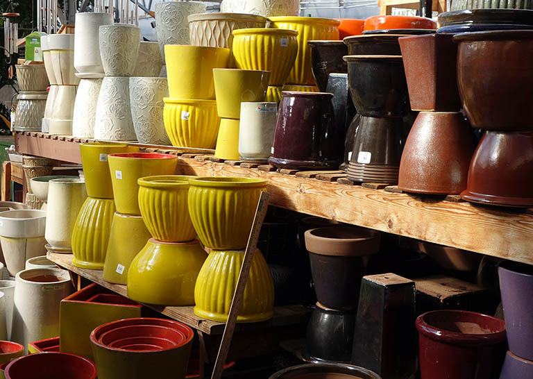Glazed Yellow Pots