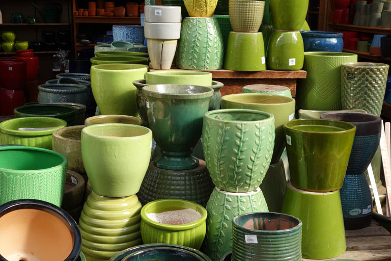 Glazed Green Pots