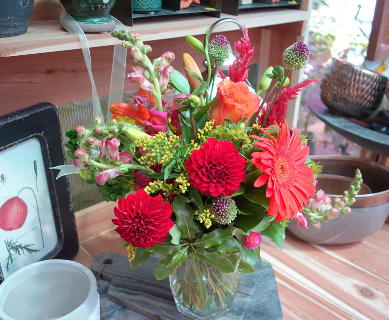 Summer Heat - Dahlias and Snap Dragons