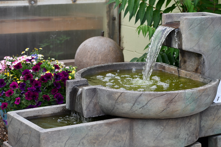 Large tiered outdoor fountain for the garden