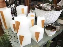 Vance Kittira Gold and White Candles