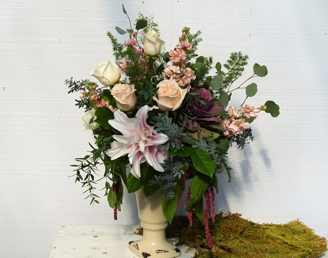 Blushing Bouquet - $100