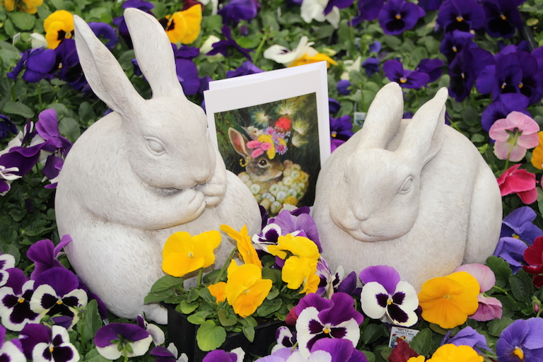 Easter Cards and Garden Bunnies